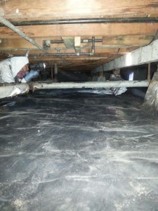 crawls space flood after inspection